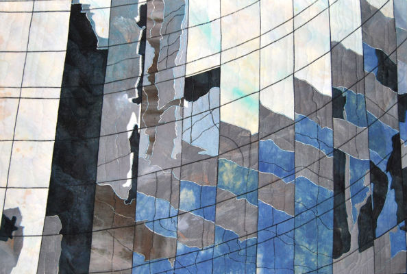 Reflections, Glass Walls, La Defense, Paris. var. 2