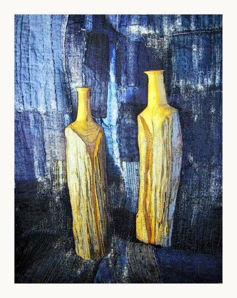 Still Life: Two Wooden Vases and Boro, var. 2
